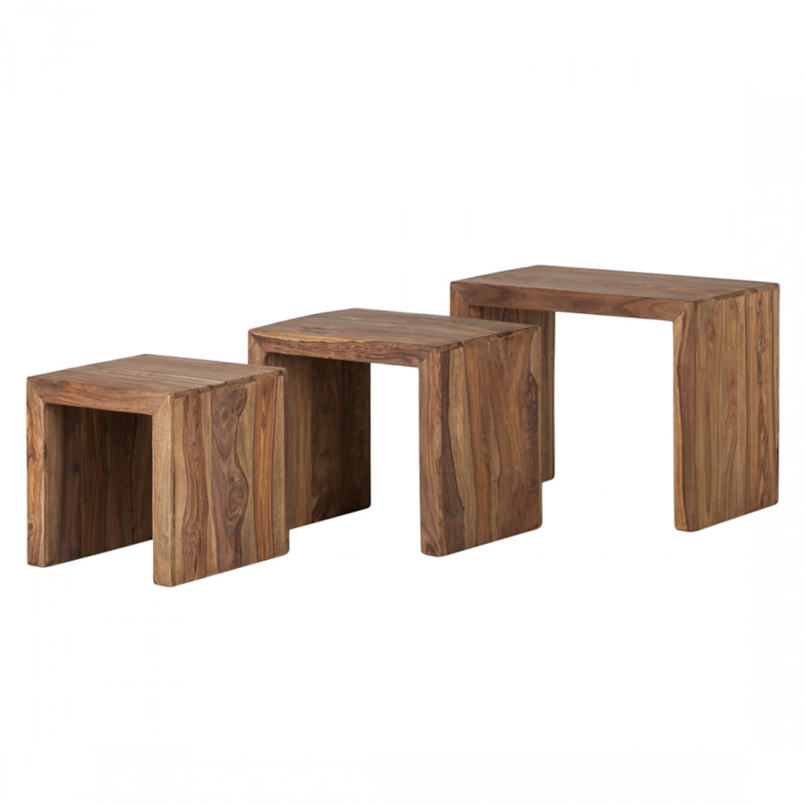 Table Gigogne En Bois Tables Gigognes Yoga Lot De 3