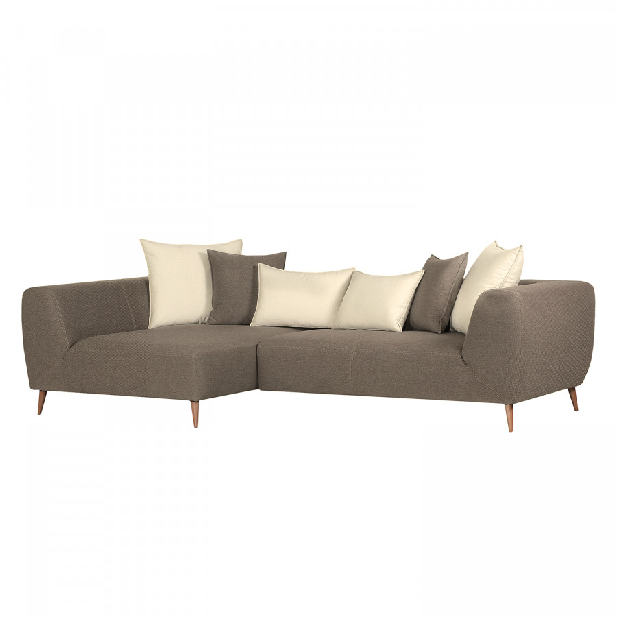 Eckcouch Taupe Ecksofa Goodluck Webstoff Taupe