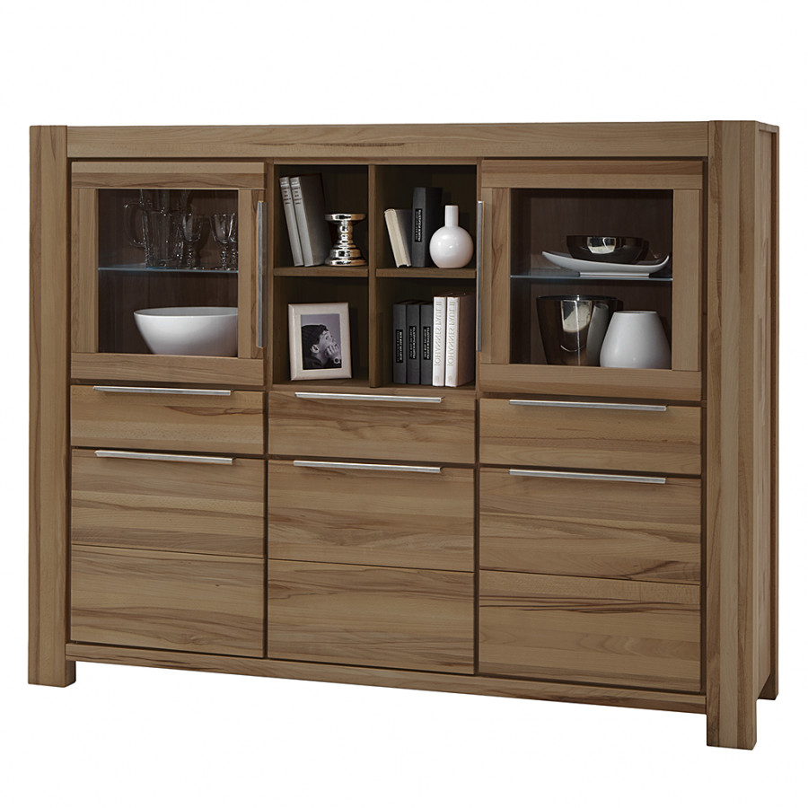 Sideboard Wildeiche Massiv Highboard Pia Ii