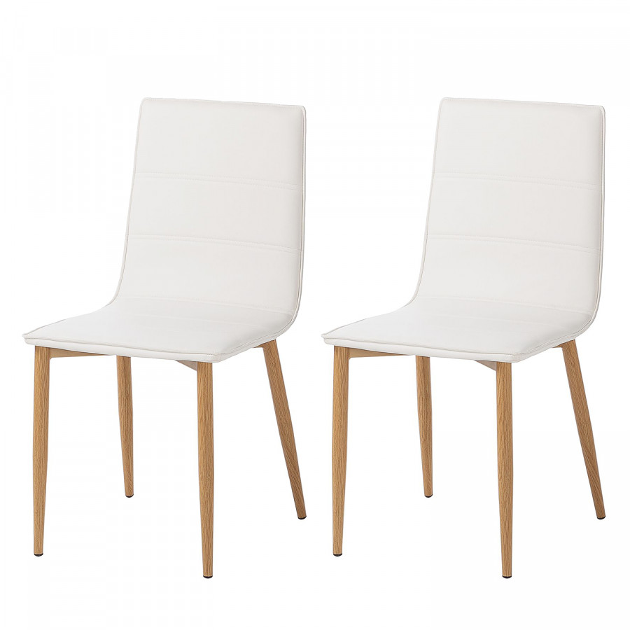 Chaise Scandinave Rembourree Chaises Rembourrées Lesja Lot De 2