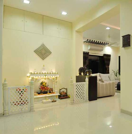 Latest Wall Tiles Design For Living Room In India Pooja Room Designs In Hall - Pooja Room | Home Temple