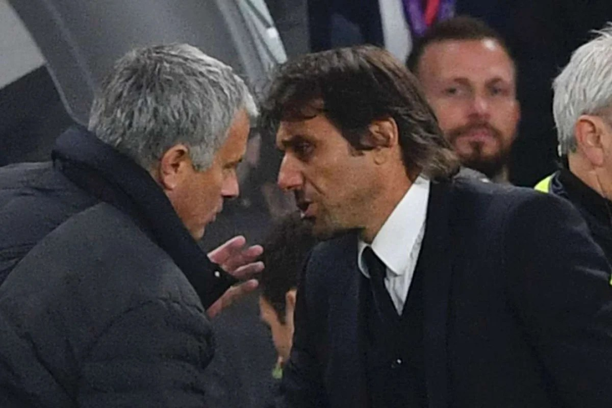 Jung Duo Dimmer Jose Mourinho And Antonio Conte Keep Mum Over Touchline Spat After
