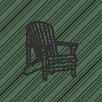 Adirondack chair, beach chair, chair, deck chair icon