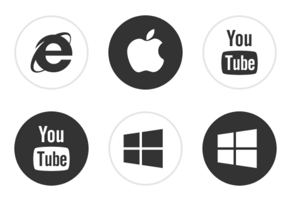 simple network powerpoint icons clipart
