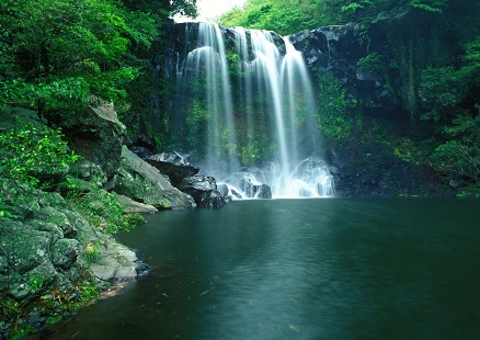 Hd Santorini Wallpaper Cheonjiyeon Waterfall South Korea Tourist Information