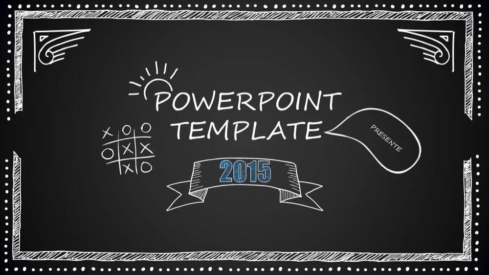 Blackboard Cartoon Style PowerPoint Template (10 slides) \u2013 Just Free