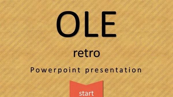 OLE Free Retro Powerpoint Template (12 slides) \u2013 Just Free Slides