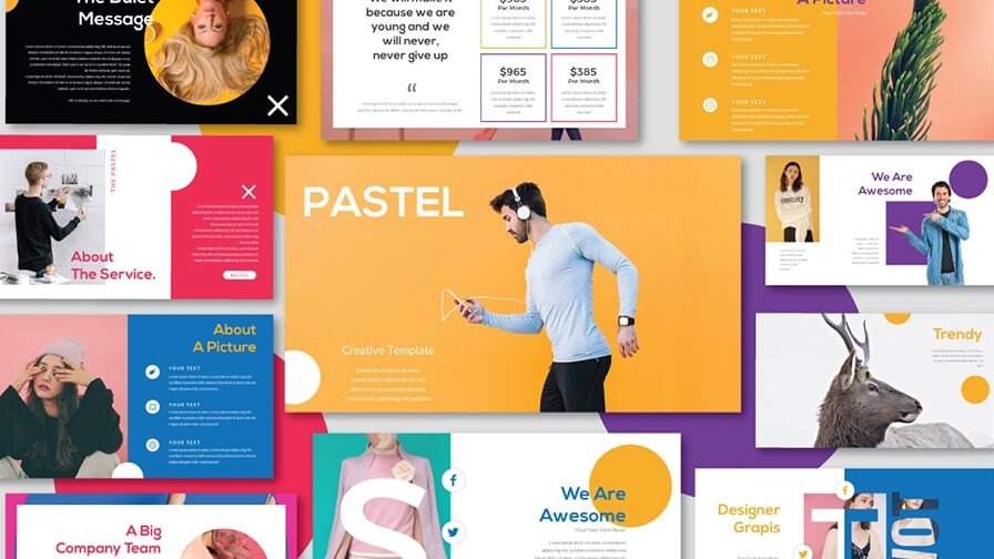 Pastel Free Presentation Template - Powerpoint Templates Just Free