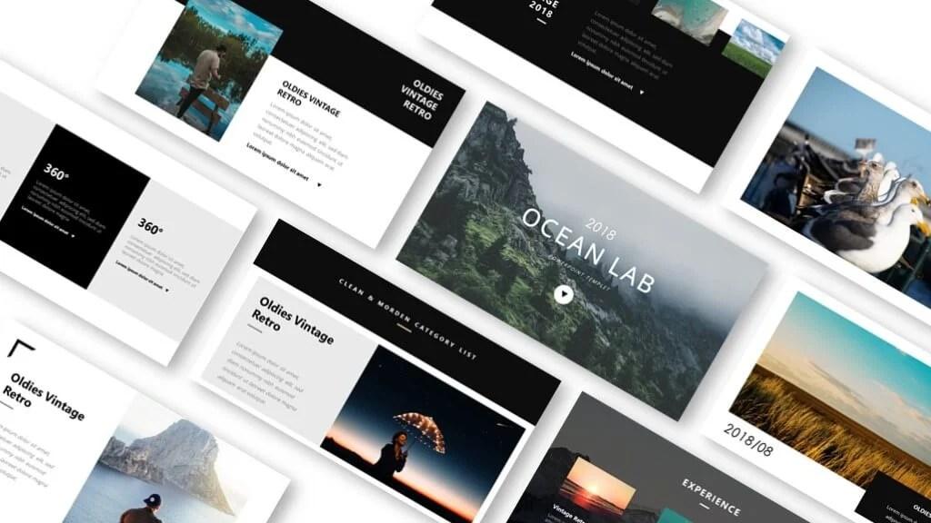 Ocean lab photo album powerpoint template \u2013 Just Free Slides