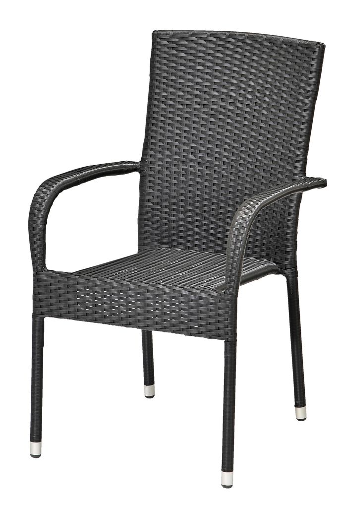 Jysk Outdoor Lounge Chair Stacking Chair Gudhjem Black | Jysk