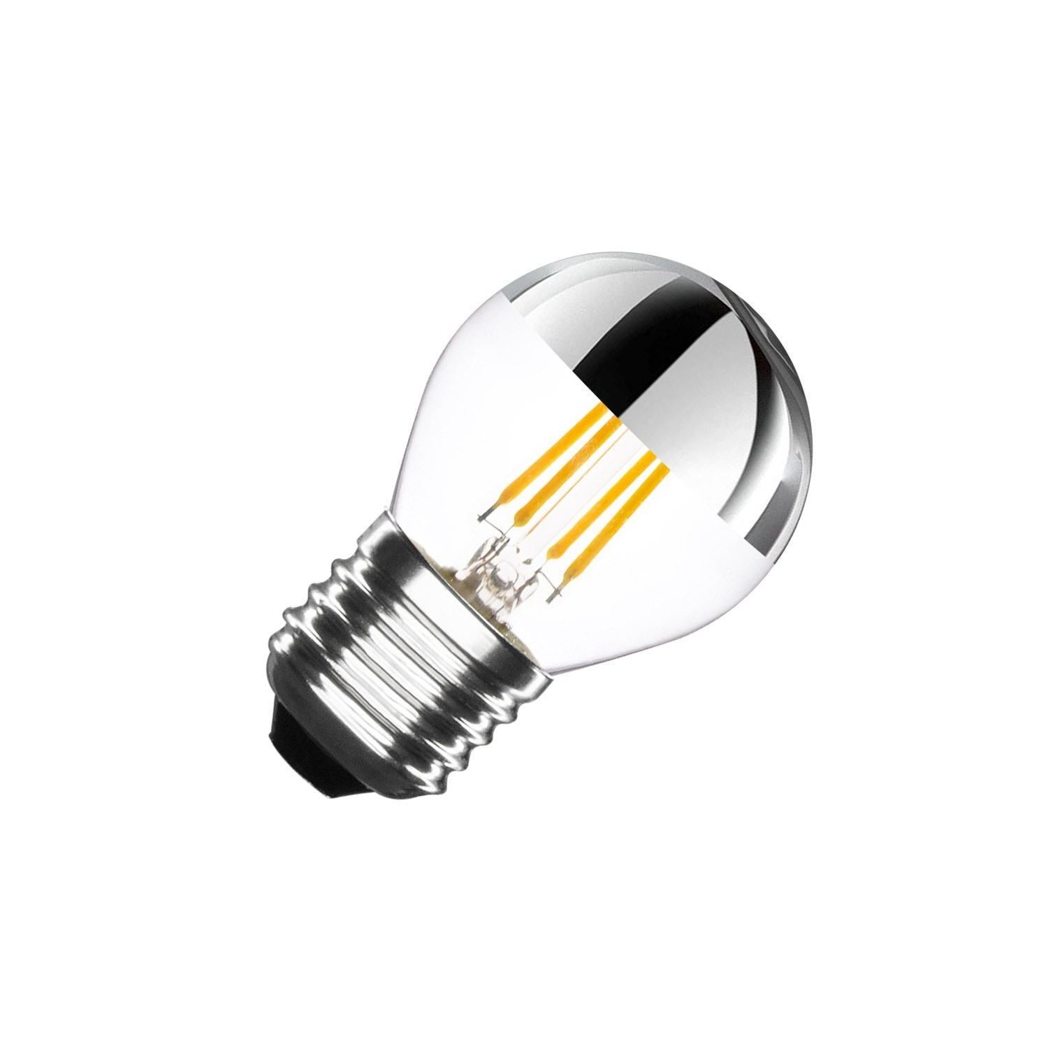 Led Birne E27 Dimmbar Mit Filament Reflect G45 3 5w Ledkia - Birne E27