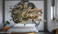 Steampunk interiors. It's more than wall murals and wall ...