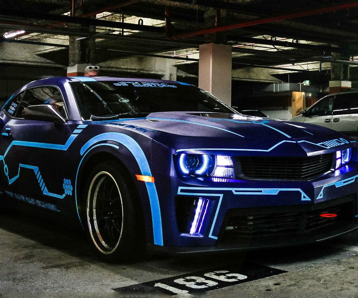 Muscle Car Hd Wallpapers 1080p Tron Camaro
