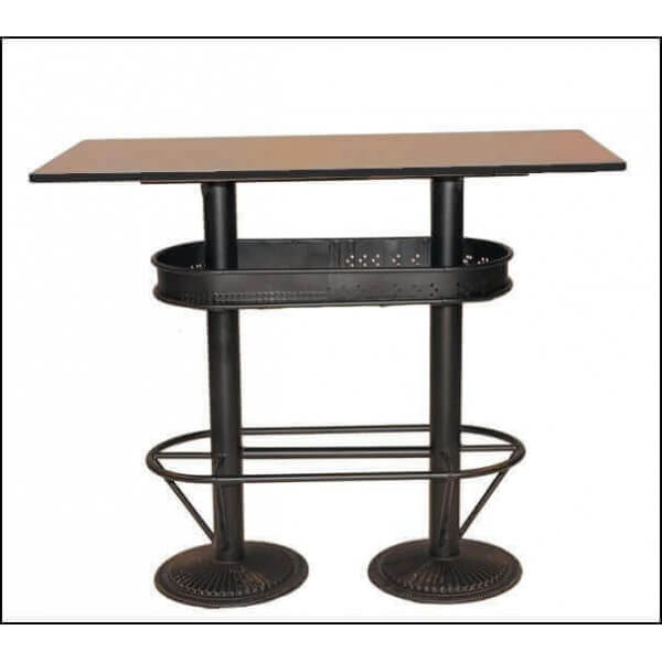 Mange Debout Fly Industrial High Table , Standing Cheap Eats Solid Bistro