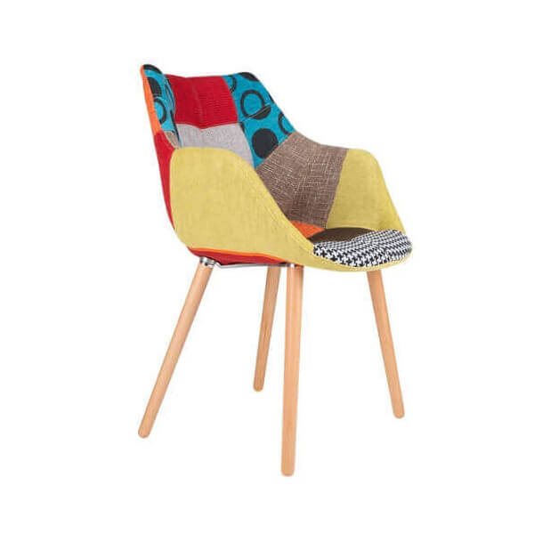 Chaises Scandinaves Patchwork Chaise Patchwork Twelve Zuiver