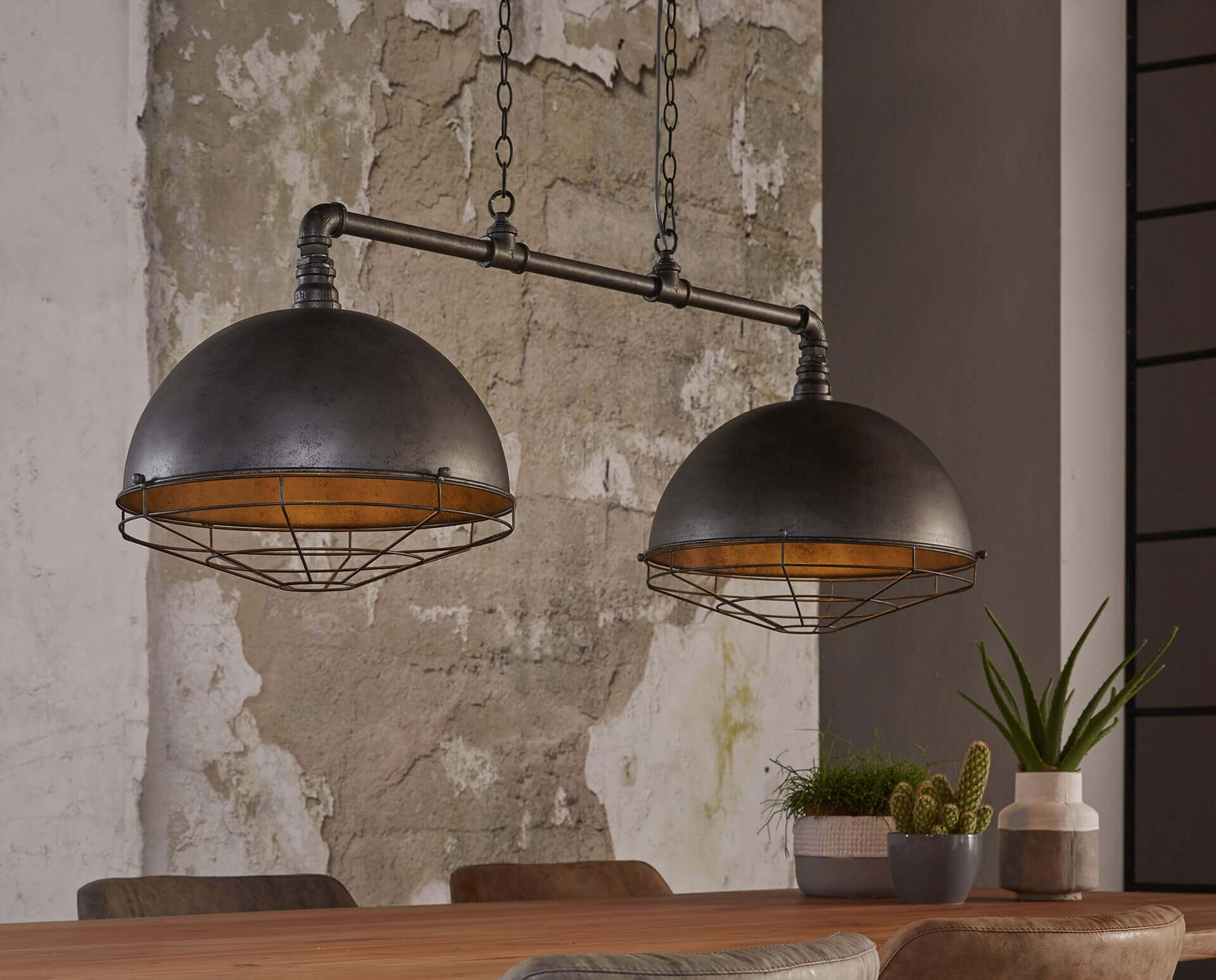 Lampe Suspension Style Industriel Suspension Double De Style Industriel