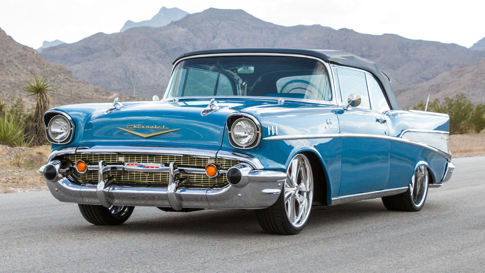 Classic Car Wallpaper 57 Chevy 1957 Chevrolet Bel Air Resto Mod T28 1 Kissimmee 2018