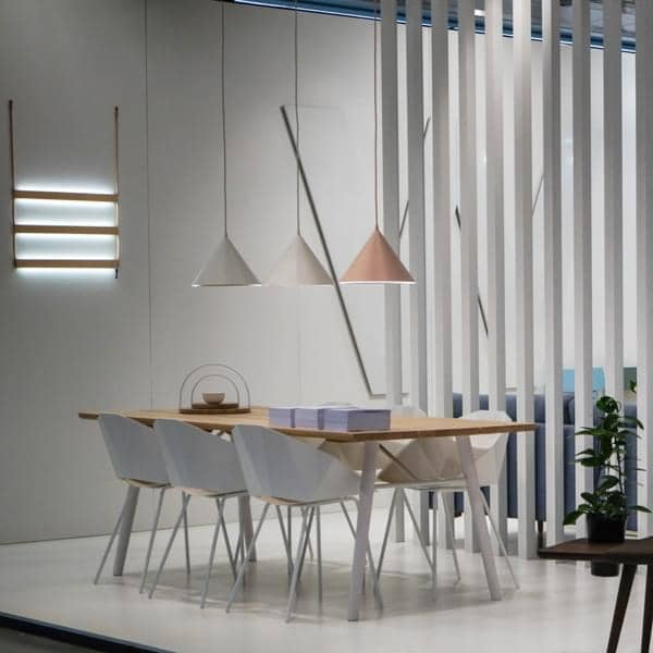 Wire Pendant Light Annular Pendant Lamp, Led, Woud