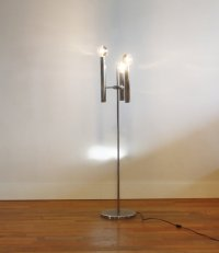 Italian Floor Lamp with Three Bulbs, 1950s for sale at Pamono
