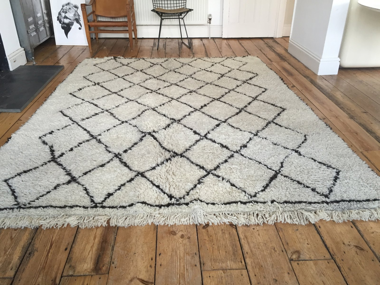 Beni Ourain Vintage Moroccan Beni Ourain Woollen Rug For Sale At Pamono