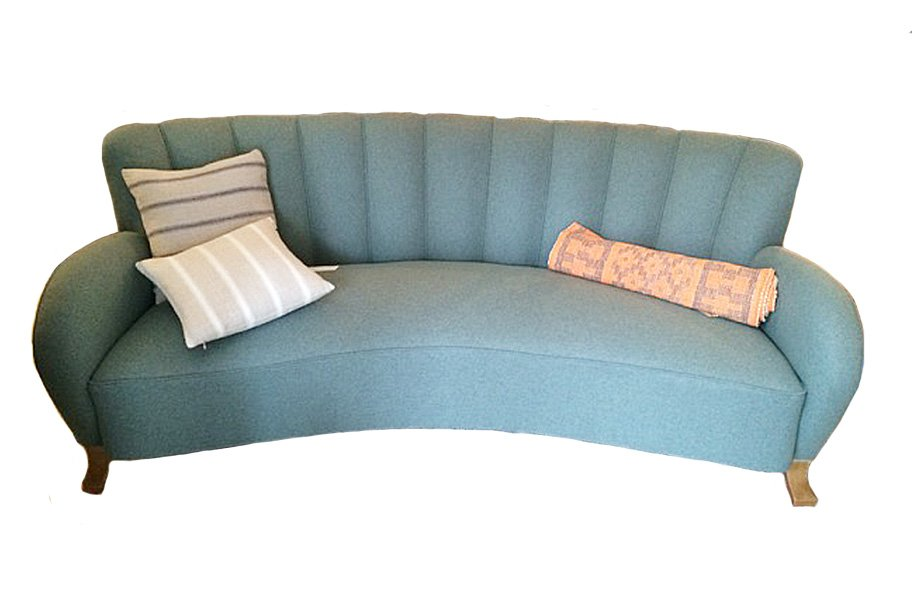 Art Deco Sofa Swedish Art Deco Curved-back Flannel Sofa For Sale At Pamono