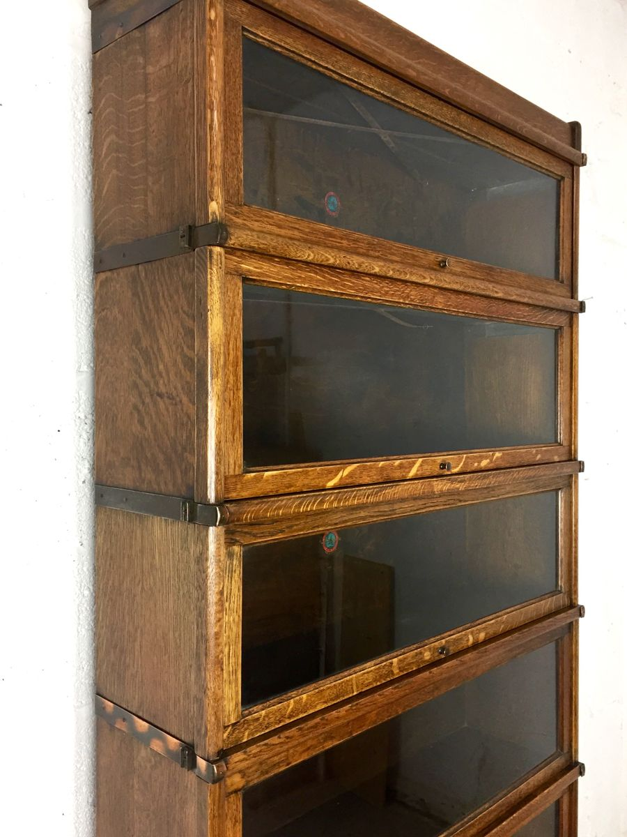 British Oak Sectional Barrister39s Bookcase From Globe