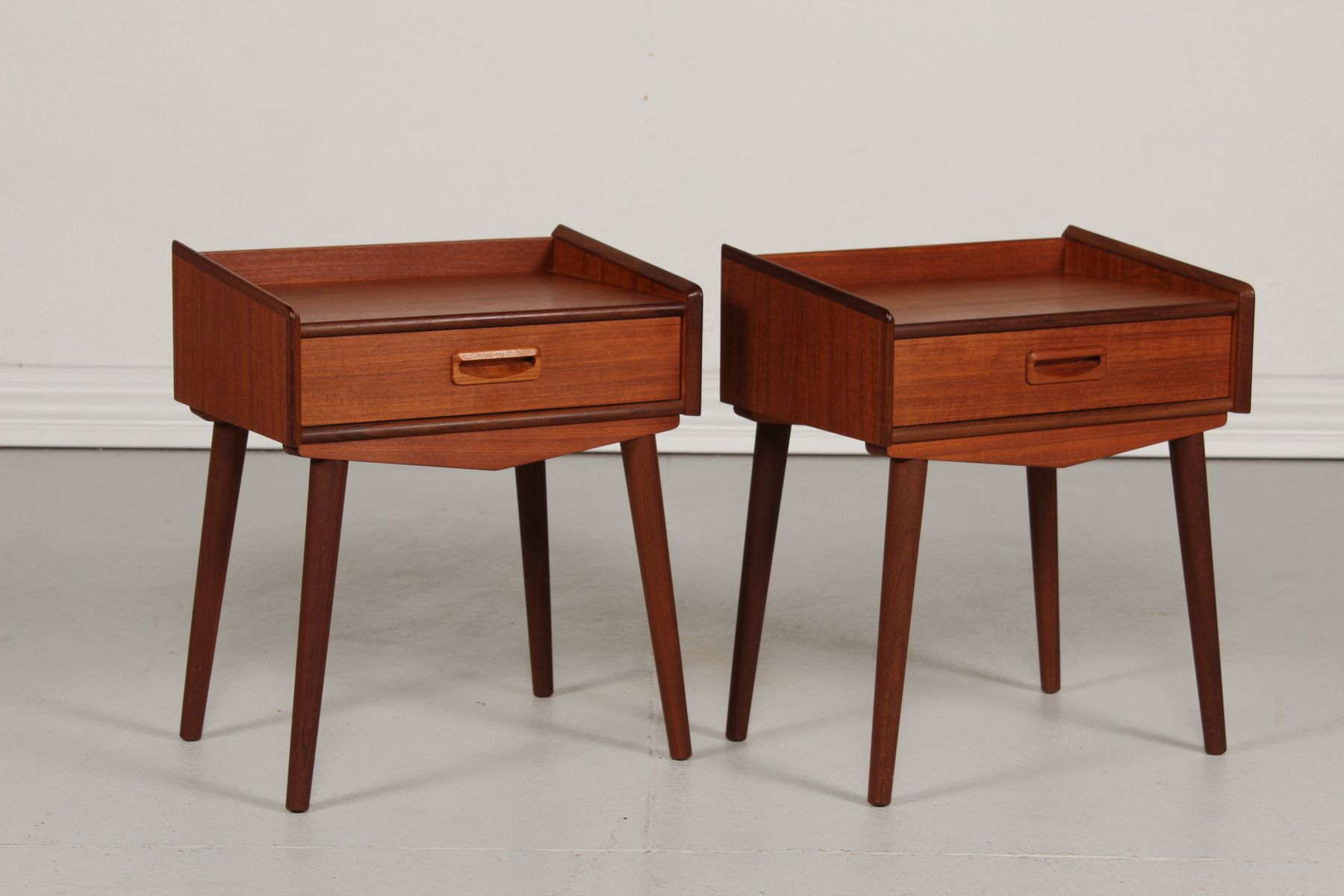 Danish Bedside Table Danish Bedside Tables 1950s Set Of 2 For Sale At Pamono