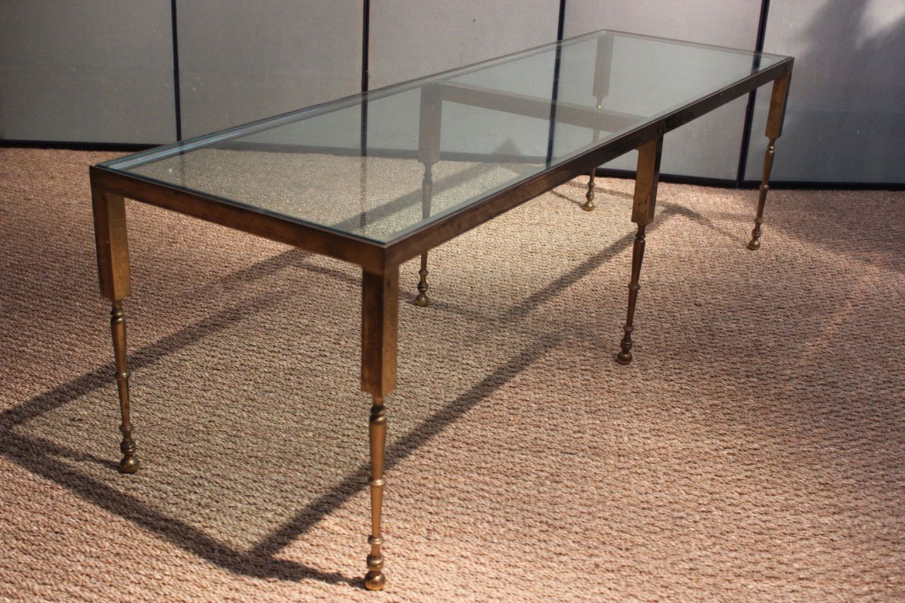 Couchtisch Glas Messing Messing Glas Couchtisch Couchtisch Aus Messing Glas 1970er