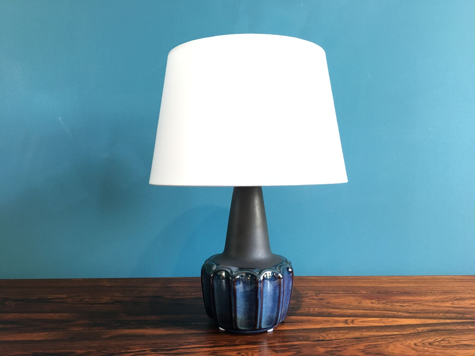 Vintage Danish Ceramic Table Lamp By Einar Johansen For
