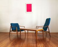 Mid-Century Cherry Easy Chair by Hartmut Lohmeyer for ...