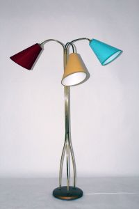 Floor Lamp with Adjustable Arms, 1950s for sale at Pamono