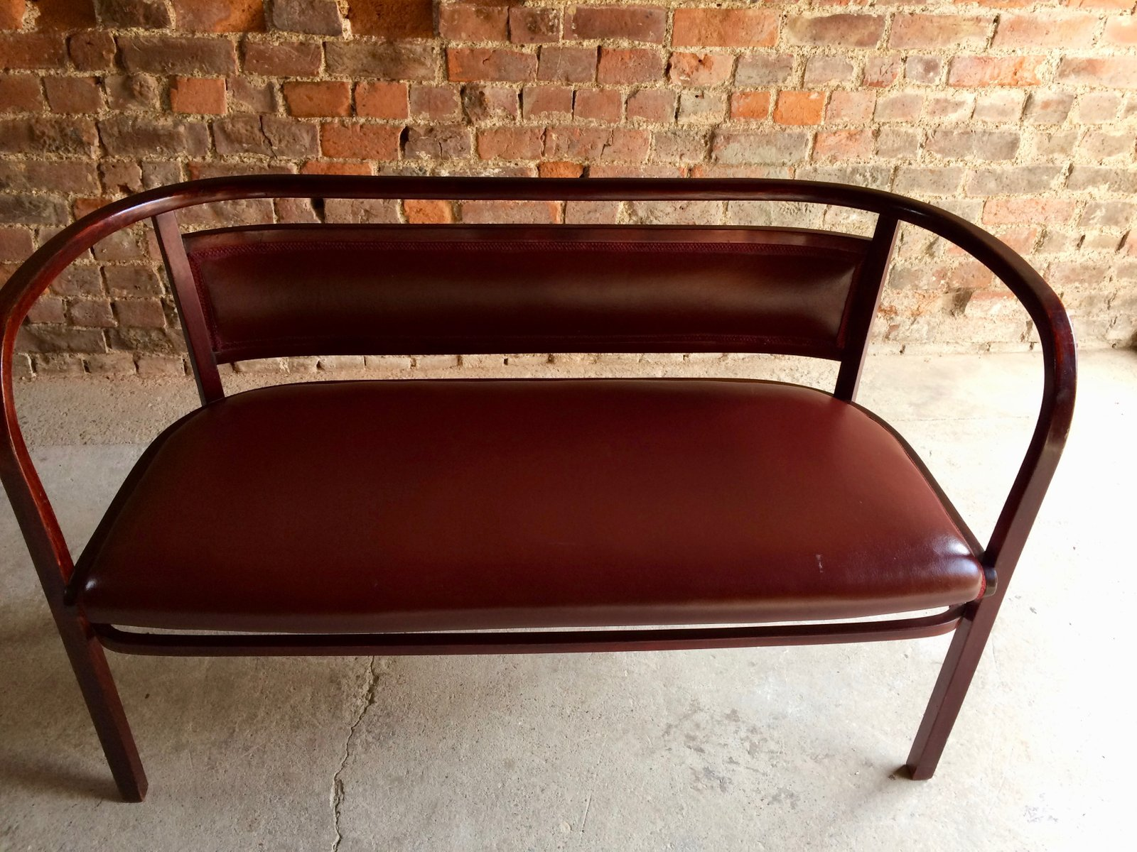 Otto Wagner Sofa Model 3 Bentwood Bench By Otto Wagner For Thonet 1900s