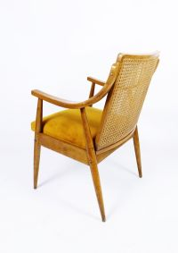 Mid-Century Cane Back Easy Chair for sale at Pamono