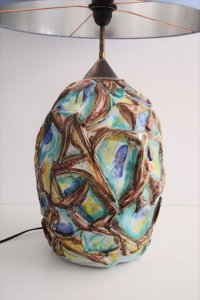 Italian Ceramic Table Lamp, 1960s for sale at Pamono