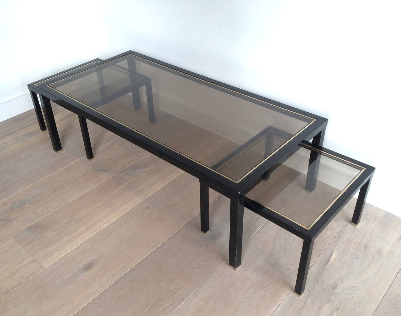 Couchtisch Chris Brass Coffee Table With Pair Of Side Tables, Set Of 3 For