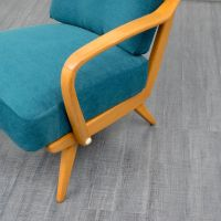 Mid Century Cherrywood Lounge Chair, 1950s for sale at Pamono