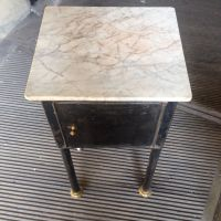 Small Industrial Table with Marble Top for sale at Pamono
