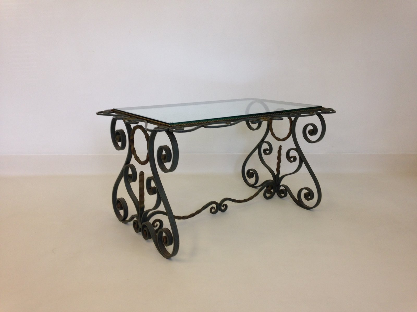 Couchtisch Chris Vintage French Wrought Iron Coffee Table For Sale At Pamono