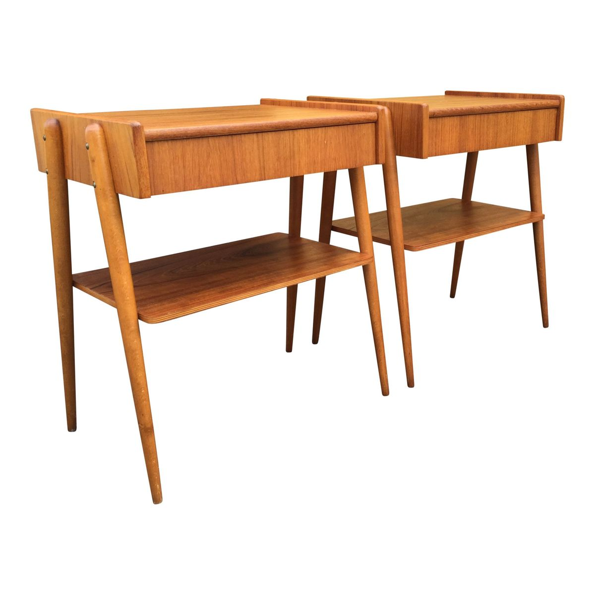 Danish Bedside Table Danish Teak Bedside Tables Set Of 2 For Sale At Pamono