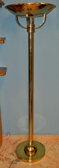Art Deco Brass Floor Lamp, 1950s for sale at Pamono