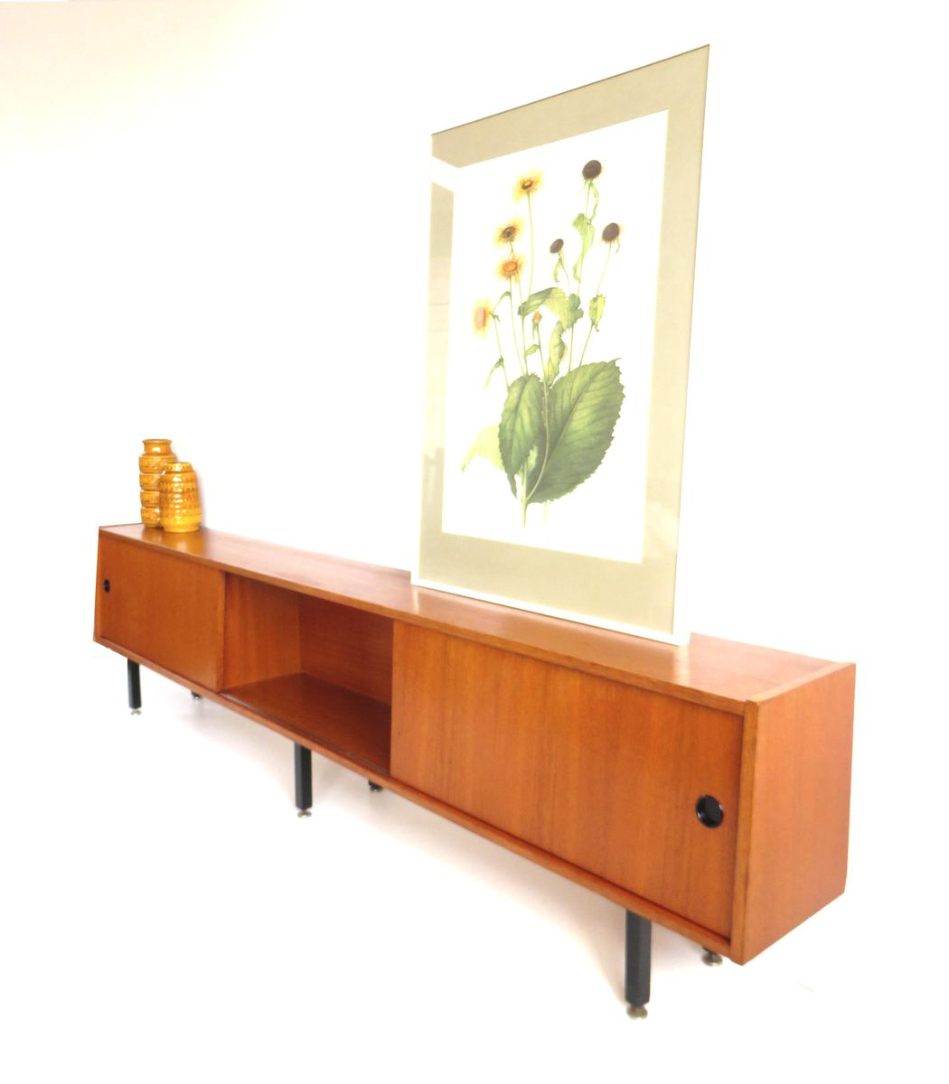 Vintage Lowboard With Sliding Doors 1960s For Sale At Pamono - Retro Lowboard
