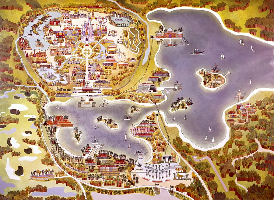 Vintage Walt Disney World Old Maps of Walt Disney World Resort