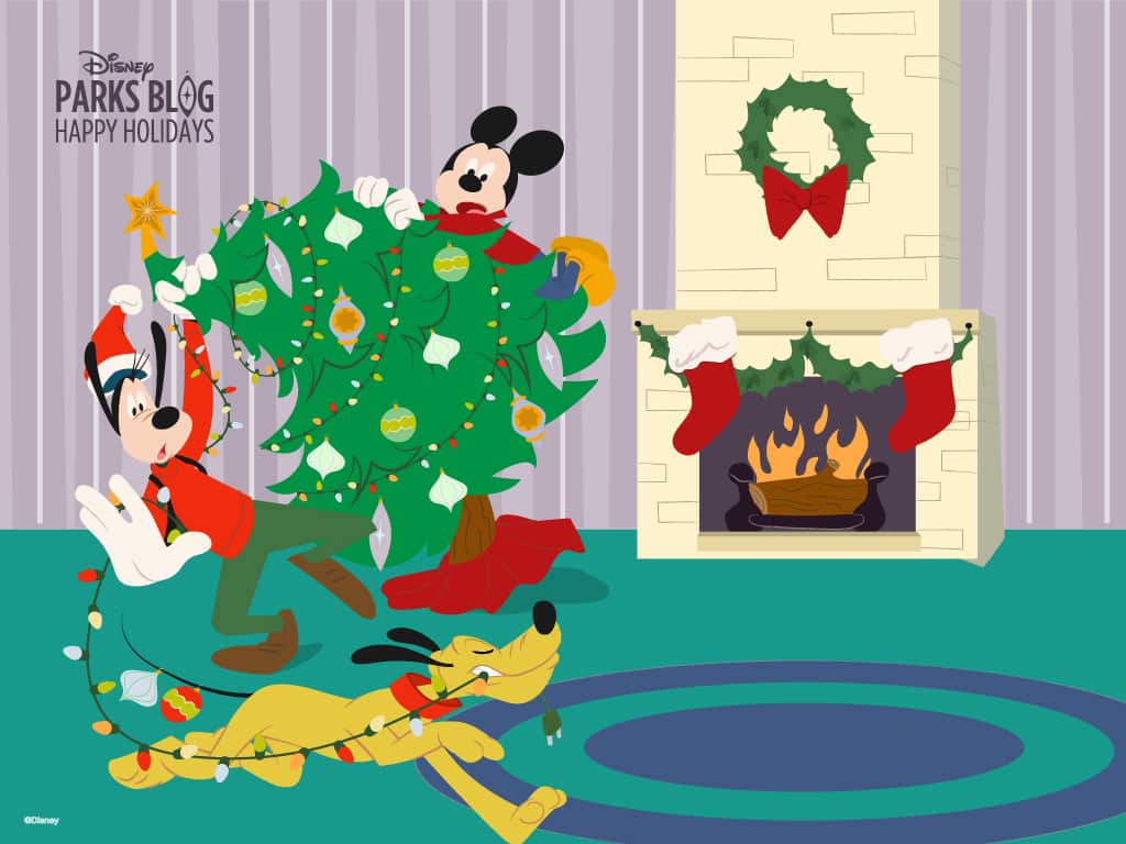 Pluto Mickey Download Our Happy Holidays Wallpaper Starring Mickey Goofy