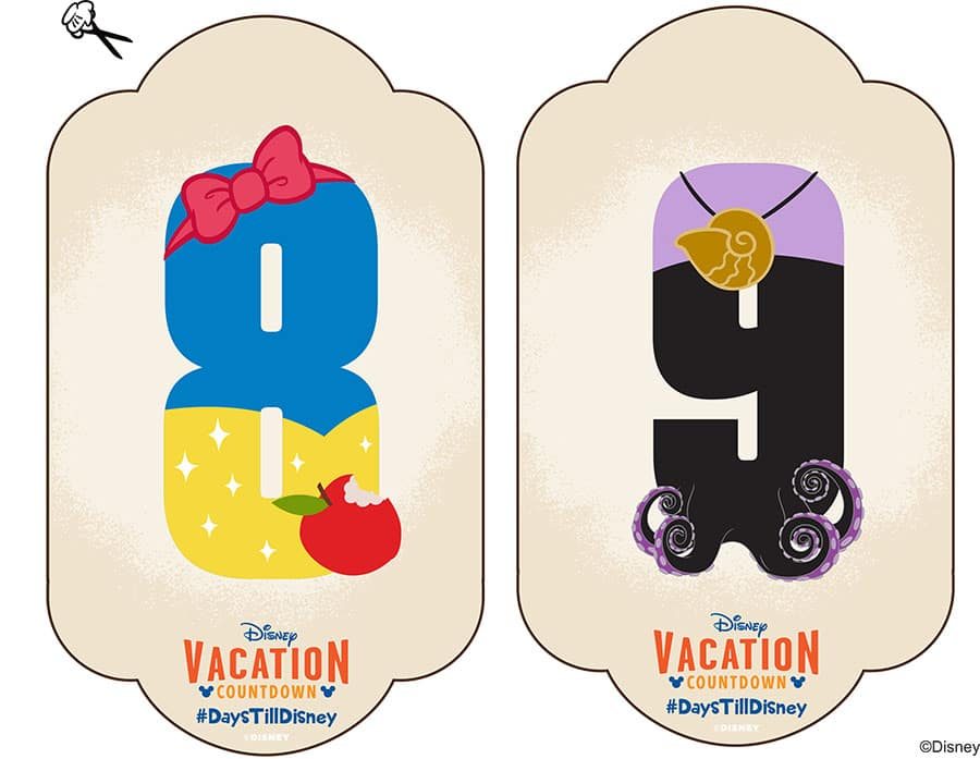 DIY Create-Your-Own Walt Disney World Vacation Countdown Disney