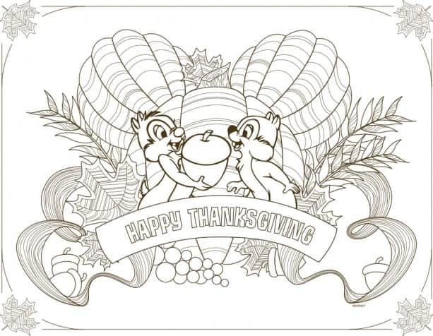 Download Disney Parks Inspired Kids\u0027 Thanksgiving Placemats Disney