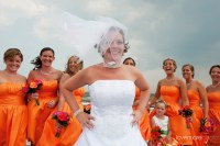 Bridesmaid Dresses Pink And Orange