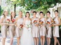 The neutral palette of the dresses was accented by a punch ...
