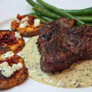 Grilled Lamb Loin Chops with Bearnaise