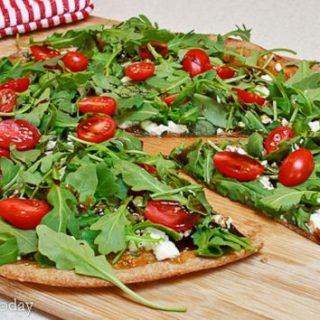 Fig, Chevre & Arugula Pizza