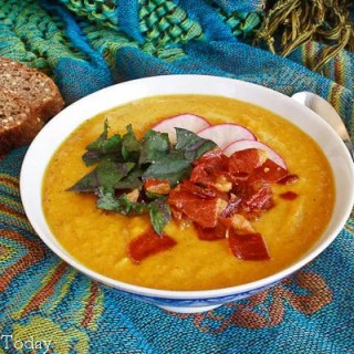 Curried Butternut Squash Soup - Served